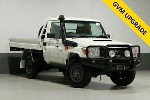 2015 Toyota Landcruiser VDJ79R MY12 Update Workmate (4x4) White 5 Speed Manual Cab Chassis Bentley Canning Area Preview