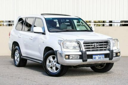 2010 Toyota Landcruiser VDJ200R 09 Upgrade VX (4x4) White 6 Speed Automatic Wagon Cannington Canning Area Preview