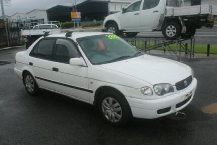 2000 Toyota Corolla AE112R Ascent White 5 Speed Manual Sedan Portsmith Cairns City Preview