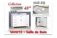 "(442-23)  VANITÉ 48""/Salle de Bain /Collection ""CARRERA"" 599.99$"