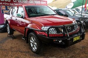 2012 Nissan Navara D40 S5 MY12 ST-X Red 7 Speed Sports Automatic Utility Minchinbury Blacktown Area Preview