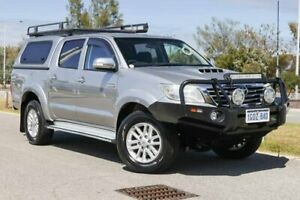 2015 Toyota Hilux KUN26R MY14 SR5 Double Cab Silver Sky 5 Speed Automatic Utility Clarkson Wanneroo Area Preview