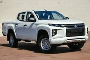 2018 Mitsubishi Triton MR MY19 GLX Double Cab ADAS White 6 Speed Sports Automatic Utility