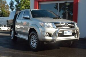 2014 Toyota Hilux KUN26R MY14 SR5 Double Cab Sterling Silver 5 Speed Automatic Utility Upper Ferntree Gully Knox Area Preview