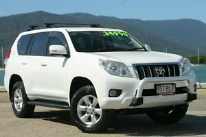 2011 Toyota Landcruiser Prado KDJ150R GXL White 5 Speed Sports Automatic Wagon Bungalow Cairns City Preview