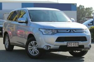 2012 Mitsubishi Outlander ZJ MY13 LS 2WD Cool Silver 6 Speed Constant Variable Wagon Rocklea Brisbane South West Preview