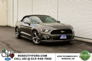 2015 Ford Mustang V6 / ACCIDENT FREE / CONVERTIBLE / BACK UP CAM