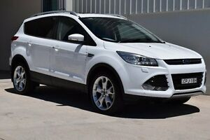 2013 Ford Kuga TF Titanium AWD White 6 Speed Sports Automatic Wagon Rutherford Maitland Area Preview