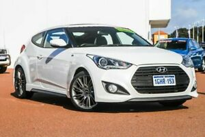 2015 Hyundai Veloster FS4 Series II SR Coupe D-CT Turbo White 7 Speed Sports Automatic Dual Clutch Rockingham Rockingham Area Preview
