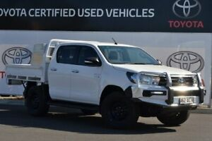 2016 Toyota Hilux GUN126R SR (4x4) Glacier White 6 Speed Manual Dual Cab Chassis Warwick Southern Downs Preview