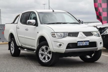 2013 Mitsubishi Triton MN MY13 GLX-R (4x4) White 5 Speed Automatic 4x4 Double Cab Utility Wangara Wanneroo Area Preview