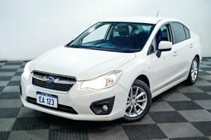 2012 Subaru Impreza G4 MY12 2.0i-L Lineartronic AWD White 6 Speed Constant Variable Sedan