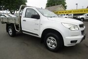 2012 Holden Colorado RG MY13 DX 4x2 Summit White 5 Speed Manual Cab Chassis Invermay Launceston Area Preview