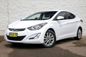 2014 Hyundai Elantra MD3 Elite White 6 Speed Sports Automatic Sedan