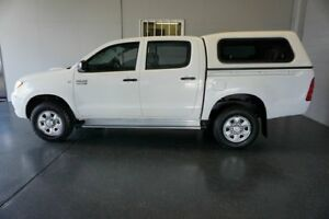 2008 Toyota Hilux KUN26R 07 Upgrade SR (4x4) White 5 Speed Manual Dual Cab Pick-up