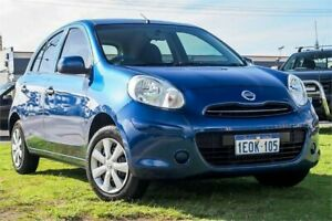 2014 Nissan Micra K13 MY13 ST Blue 4 Speed Automatic Hatchback Wangara Wanneroo Area Preview