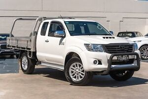 2014 Toyota Hilux KUN26R MY14 SR5 Xtra Cab White 5 Speed Manual Utility Brookvale Manly Area Preview