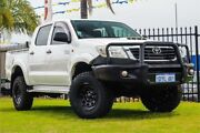 2012 Toyota Hilux KUN26R MY12 SR Double Cab White 4 Speed Automatic Utility Wangara Wanneroo Area Preview