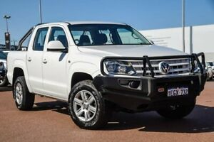 2013 Volkswagen Amarok 2H MY13 TDI420 4Motion Perm Trendline White 8 Speed Automatic Cab Chassis Balcatta Stirling Area Preview