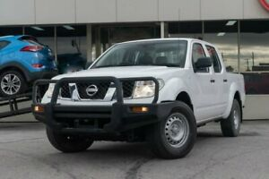 2012 Nissan Navara D40 S6 MY12 RX White 5 Speed Automatic Utility