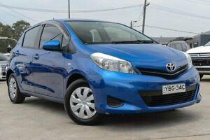 2014 Toyota Yaris NCP130R YR Blue 4 Speed Automatic Hatchback
