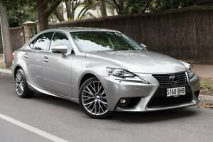 2015 Lexus IS 200t ASE30R Sports Luxury Silver 8 Speed Sports Automatic Sedan Parkside Unley Area Preview