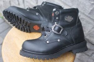 HARLEY Davidson leather safety boots WOMENS size US 7 steel toe,
