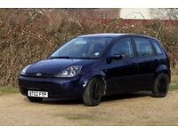 Blue Ford Fiesta Ghia with ST upgrade - spares or repair