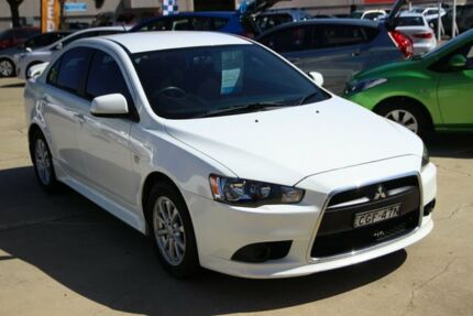 2012 Mitsubishi Lancer CJ MY12 ES White 6 Speed Constant Variable Sedan Maryville Newcastle Area Preview