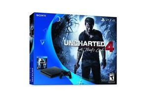 PS4 console + Uncharted game + warranty + store receipt