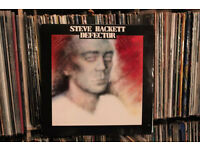 Steve Hackett - Defector with poster vinyl record LP