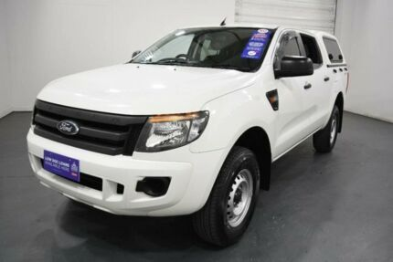 2014 Ford Ranger PX XL 2.2 Hi-Rider (4x2) Cool White 6 Speed Automatic Crew Cab Pickup Oakleigh Monash Area Preview