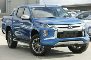 2018 Mitsubishi Triton MR MY19 GLS Double Cab Blue 6 Speed Sports Automatic Utility Nunawading Whitehorse Area Preview