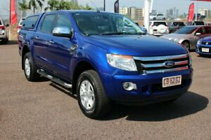 2014 Ford Ranger PX XLT Double Cab Blue 6 Speed Automatic Dual Cab Utility The Gardens Darwin City Preview