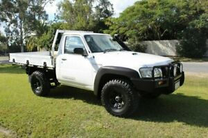 2011 Nissan Patrol GU 6 MY10 DX White 5 Speed Manual Cab Chassis Ormeau Gold Coast North Preview
