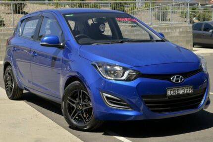 2013 Hyundai i20 PB MY14 Active Blue 6 Speed Manual Hatchback Lisarow Gosford Area Preview