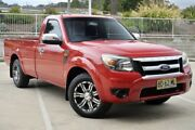 2009 Ford Ranger PJ XL Red 5 Speed Manual Utility Lisarow Gosford Area Preview