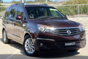 2013 Ssangyong Stavic A100 MY13 SPR Burgundy 5 Speed Automatic Wagon Lisarow Gosford Area Preview