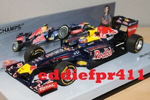 1/43 2012 MARK WEBBER RED BULL RACING RENAULT INFINITI SHOWCAR MINICHAMPS F1 AUS