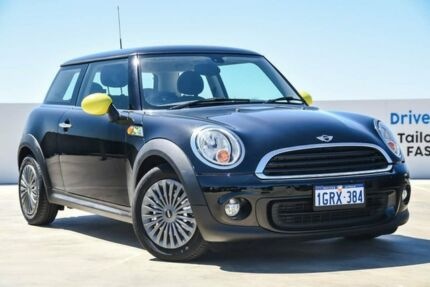 2012 Mini Hatch R56 LCI Ray Steptronic Black 6 Speed Sports Automatic Hatchback Osborne Park Stirling Area Preview