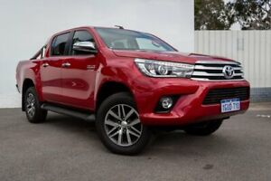 2018 Toyota Hilux GUN126R SR5 Double Cab Red 6 Speed Sports Automatic Utility Maddington Gosnells Area Preview