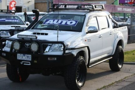 2014 Toyota Hilux KUN26R MY14 SR Double Cab White 5 Speed Automatic Utility Altona North Hobsons Bay Area Preview