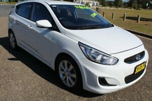 2017 Hyundai Accent RB6 MY18 Sport Chalk White 6 Speed Sports Automatic Hatchback Port Macquarie Port Macquarie City Preview
