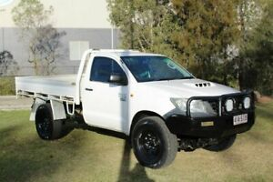 2012 Toyota Hilux KUN26R MY12 Workmate White 5 Speed Manual Cab Chassis Ormeau Gold Coast North Preview