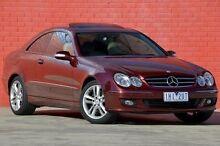 2007 Mercedes-Benz CLK200 Kompressor A209 MY08 Avantgarde Burgundy 5 Speed Automatic Coupe Pakenham Cardinia Area Preview