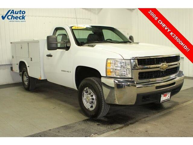 Chevrolet : Silverado 2500 Work Truck Used 08 Chevy K2500HD Regular Cab 4x4 Knaphiede Utility Box 6.0L V8 Work Truck