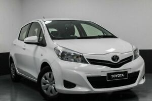 2013 Toyota Yaris NCP130R YR White 5 Speed Manual Hatchback Hamilton East Newcastle Area Preview