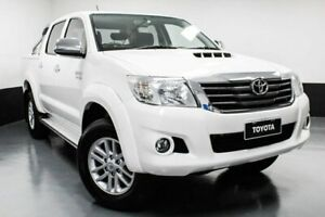 2015 Toyota Hilux KUN26R MY14 SR5 Double Cab White 5 Speed Manual Utility Telarah Maitland Area Preview