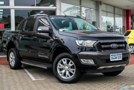 2017 Ford Ranger PX MkII Wildtrak Double Cab Black 6 Speed Sports Automatic Utility Morley Bayswater Area Preview