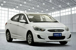 2017 Hyundai Accent RB4 MY17 Active White 6 Speed Constant Variable Sedan Victoria Park Victoria Park Area Preview